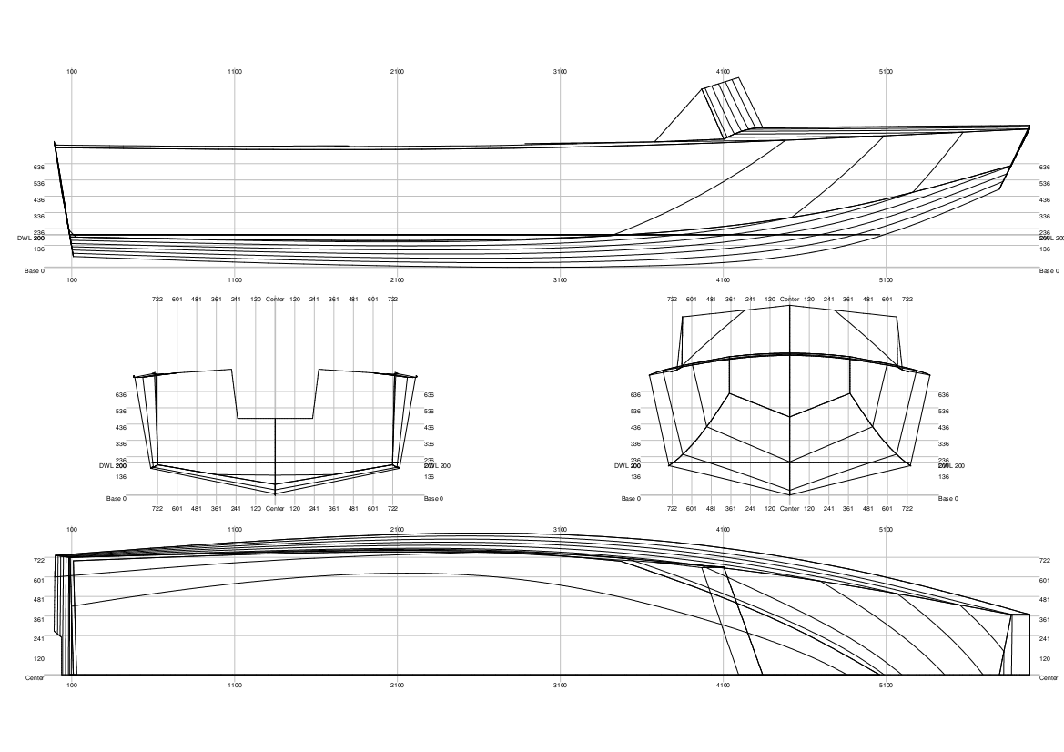 20140210_6m Motorboot_linesplan